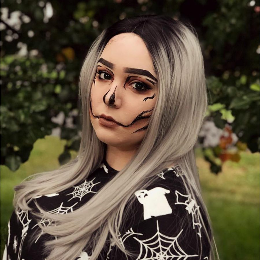Musegetes Ombre Silver Straight Synthetic Lace Front Wig HS0021