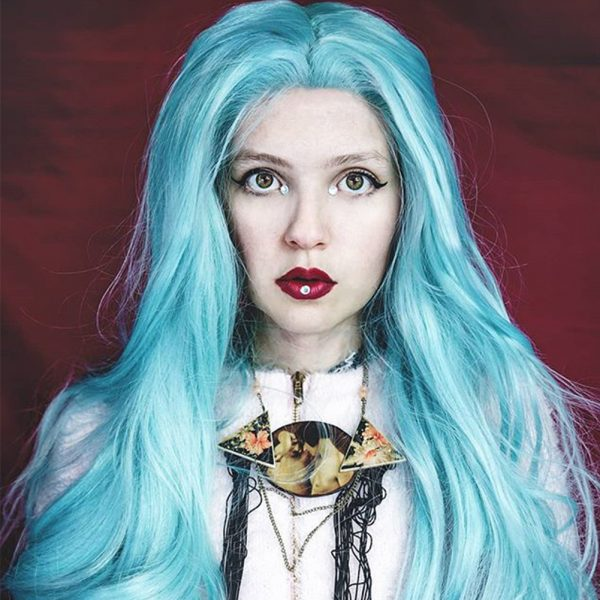 Musegetes Green Wavy Synthetic Lace Front Wigs HS0028