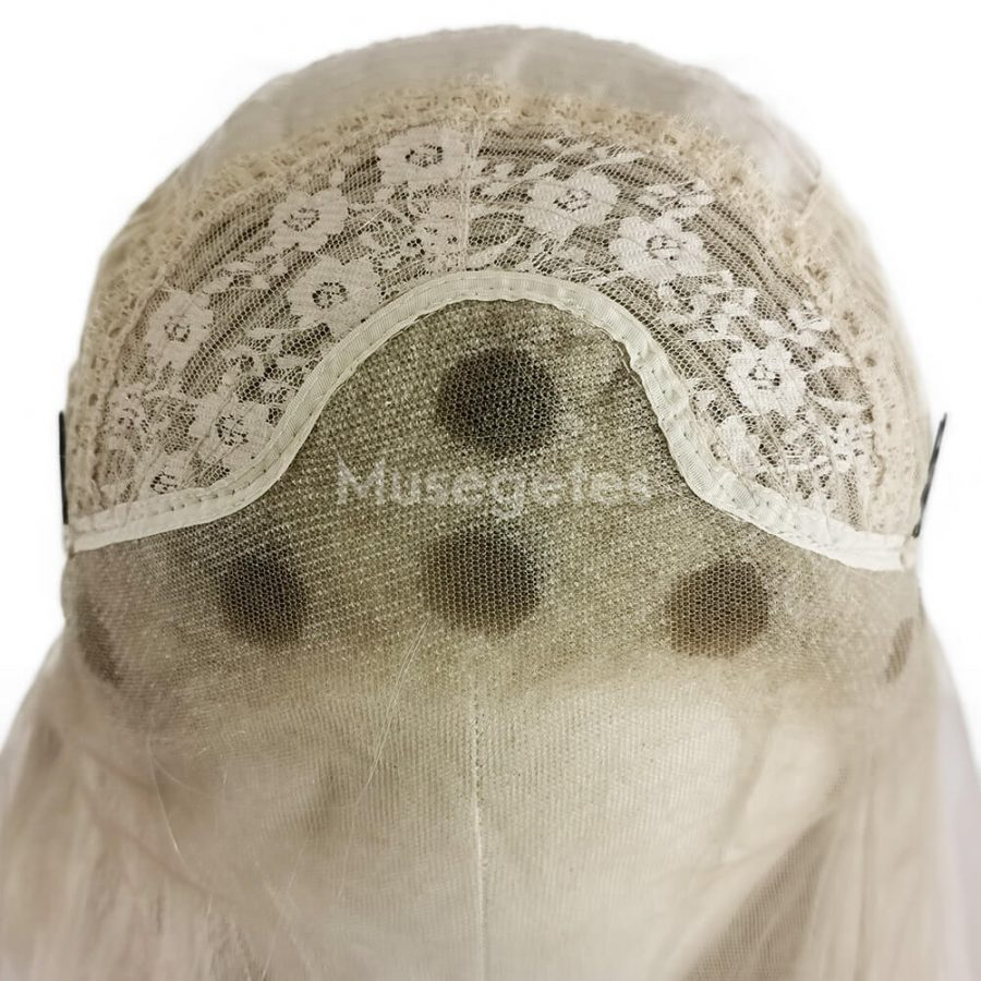 Musegetes Blonde Mixed Brown Wavy Synthetic Lace Front Wigs