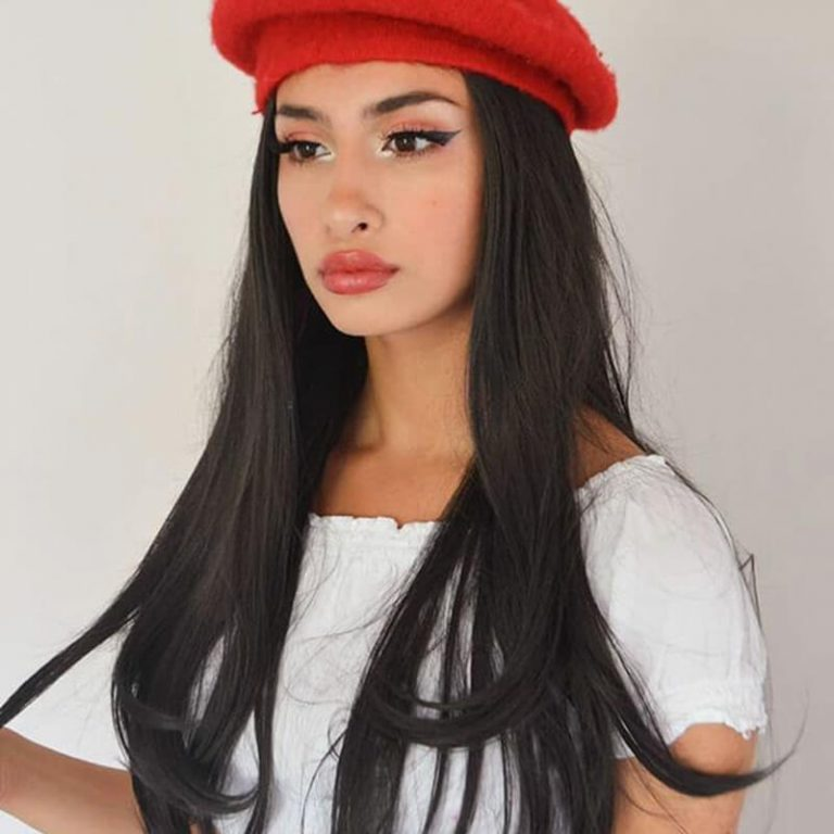 Black Straight Synthetic Lace Front Wigs SL22